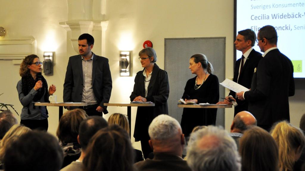 Invigningen av Fair Finance Guide med bland annat ansvarig minister Per Bolund.