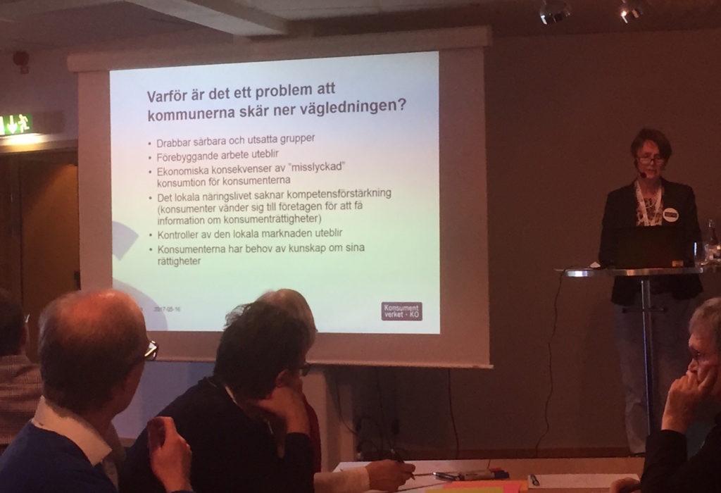 Konsumentverkets GD Cecilia Tisell på årets Konsumentdagar.
